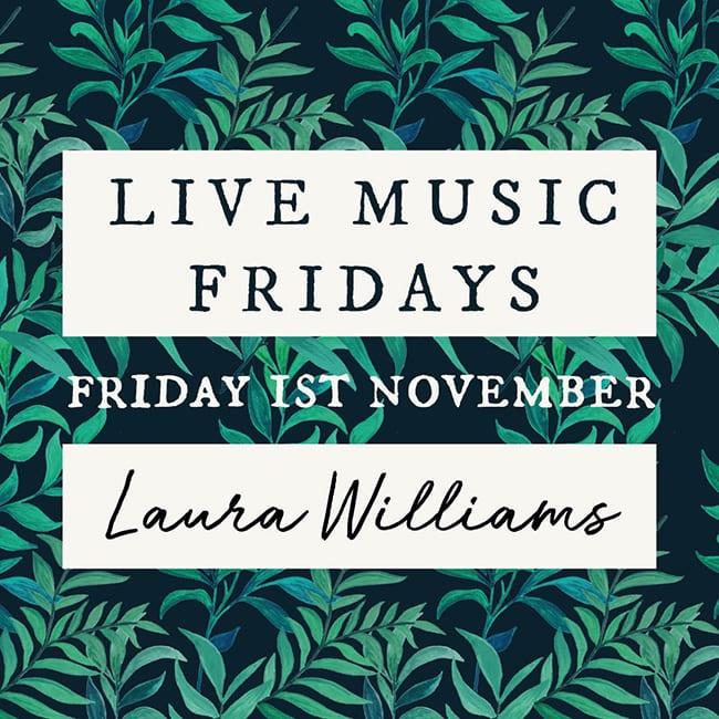 Live Music Fridays – Laura Williams