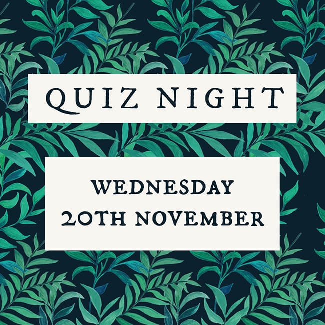 Mason Arms Quiz Night